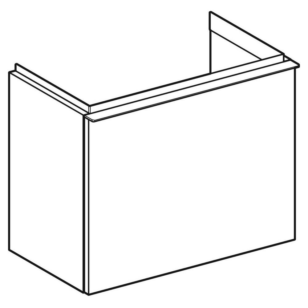 Geberit iCon fonteinonderkast 1 lade 52x30,7 cm, wit/chroom