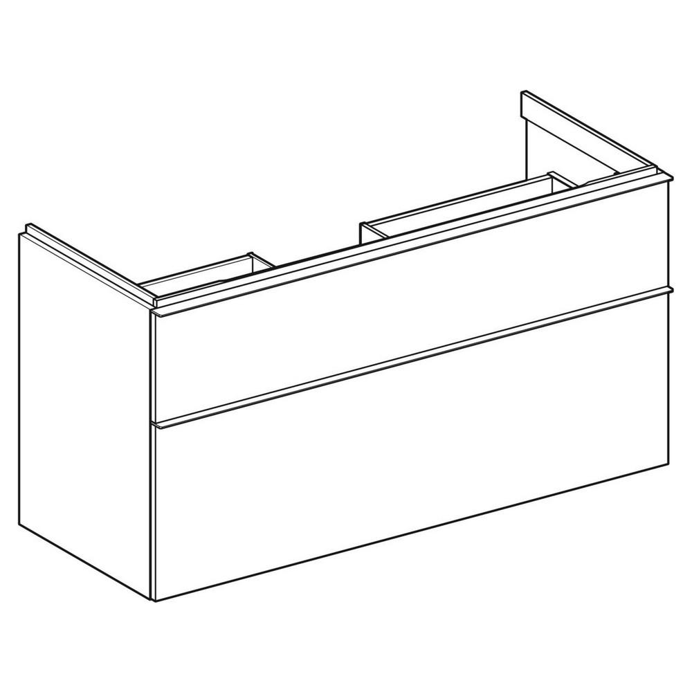 Geberit iCon wastafelonderkast 2 lade 118x47,6 cm, noten hickory