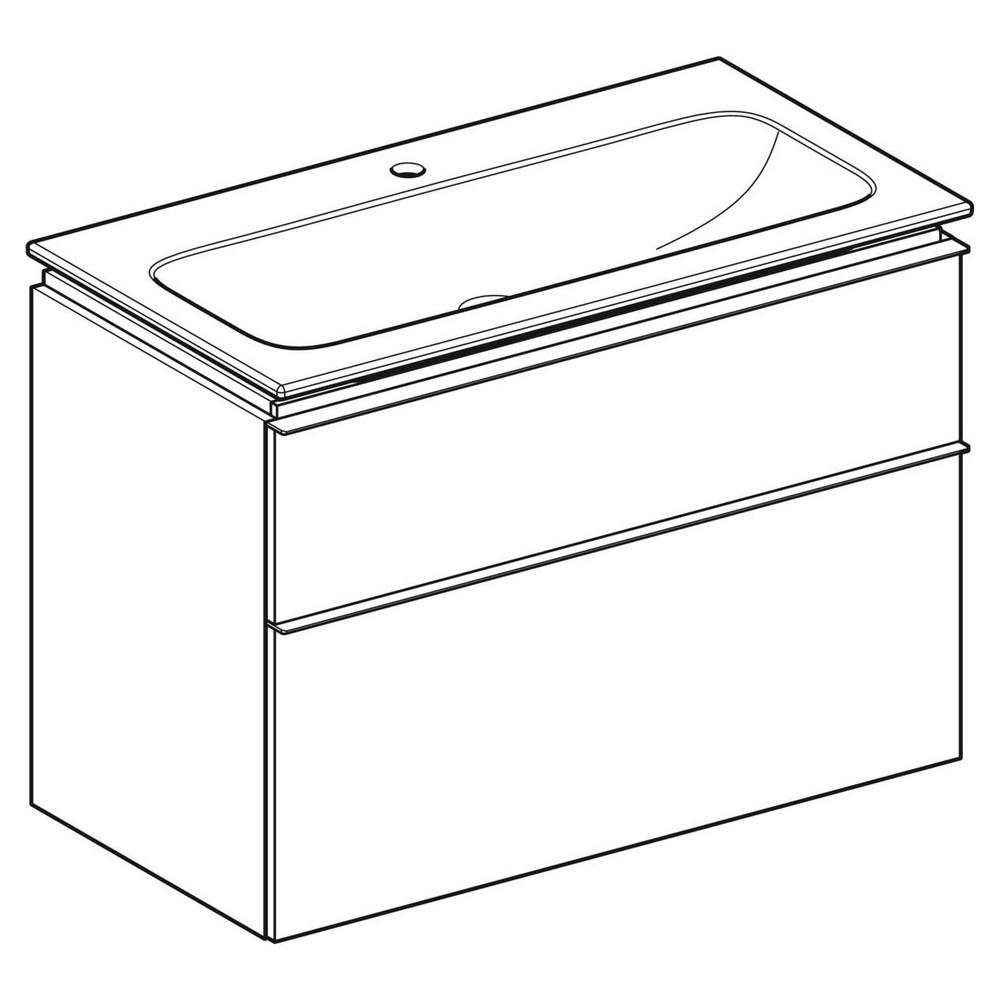 Geberit iCon wastafel 90 cm, met onderkast met 2 laden, wit