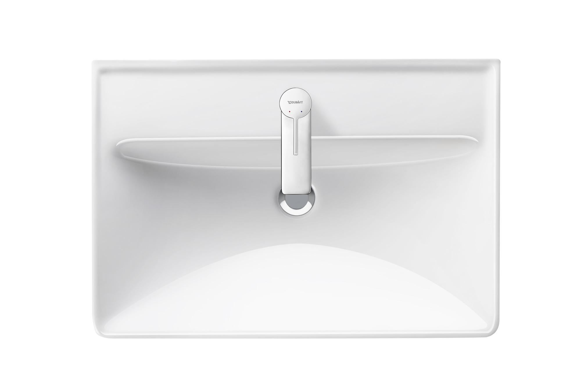 Duravit D-Neo wastafel 650 mm, hoogglans wit