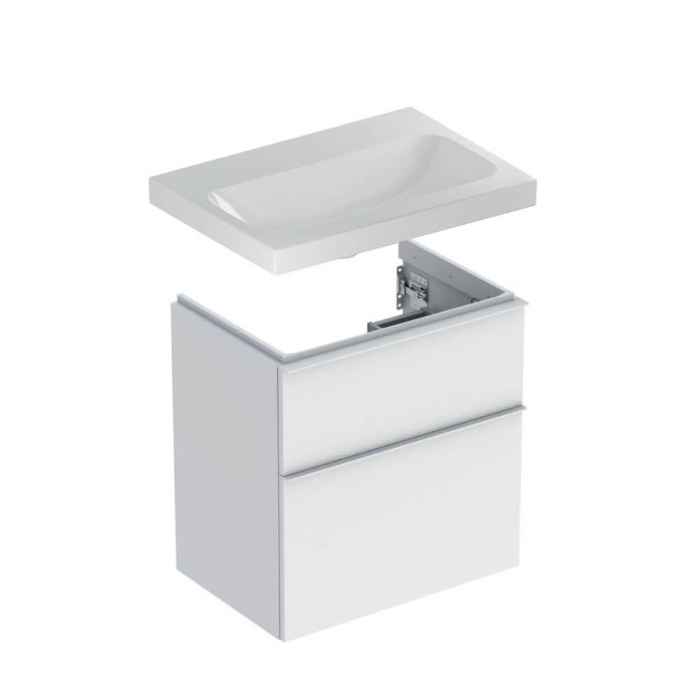 Geberit Icon badmeubelset 42 - Light wastafel compact en wastafelonderkasten 60 cm