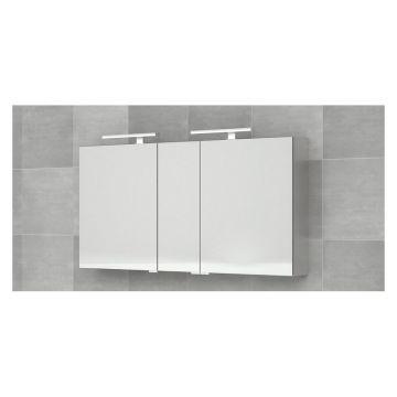 Bruynzeel aluminium spiegelkast 3-deurs 70 x 150 x 14 cm, aluminium