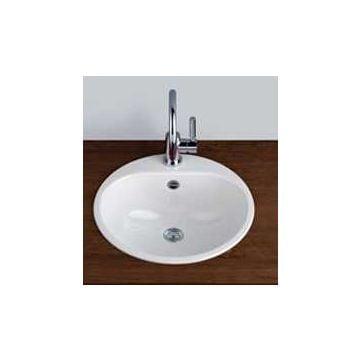 Alape inbouwwastafel EW 3, diameter 47,5 cm, wit