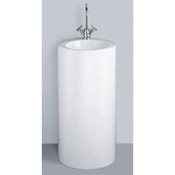 Alape WT wastafel 40 cm, rond 90 cm, hoog staand met afvoer bevestiging, wit