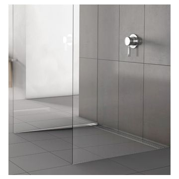 ACO ShowerStep afschot-tegelprofiel links L=99 cm tegelhoogte=15 mm, rvs geslepen