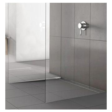 ACO ShowerStep afschot-tegelprofiel links L=99 cm tegelhoogte=10 mm, rvs geslepen