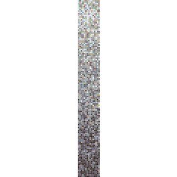 Bisazza Sfumature glasmoziek module 32,2x258,8 cm, incl. voegmiddel, stella alpina