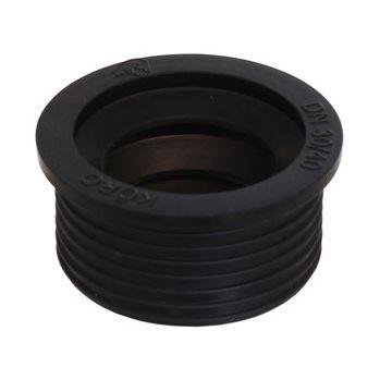 De Beer rubber manchet/kasrubber/verloop 5x4 cm, zwart
