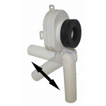 De Beer universele urinoirsifon horizontaal/verticaal afvoer 4 cm, wit