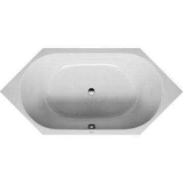 Duravit D-code 6-hoek bad 190x90 cm zonder poten, wit