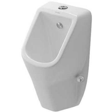 Duravit D-code urinoir toevoer boven met sifon en bevestiging, wit