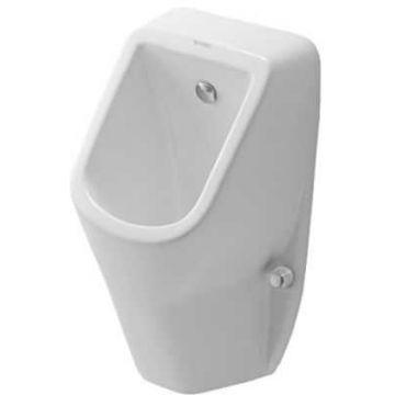 Duravit D-code urinoir toevoer achter met sifon, bevestiging en mikpunt, wit