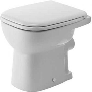 Duravit D-code toilet vlakspoel PK met bevestiging, wit