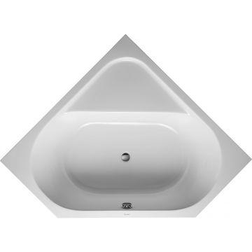 Duravit D-code hoekbad 140x140 cm zonder poten, wit