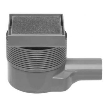 Easy Drain Aqua Quattro tegel vloerput abs 10x10 cm, horizontaal, tegel / rvs
