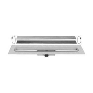 Easy Drain Compact 30 TAF Wall afvoergoot 100x6 cm, zijaansluiting, rvs