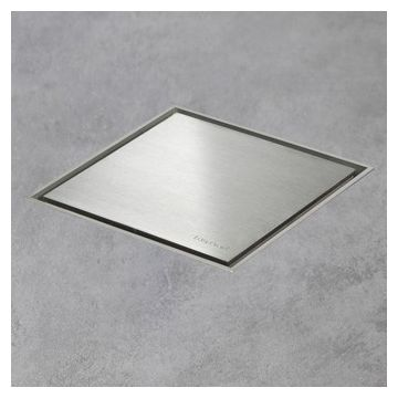 Easy Drain Aqua Jewels quattro vloerput rvs 20x20 cm, zu multi, rvs geborsteld