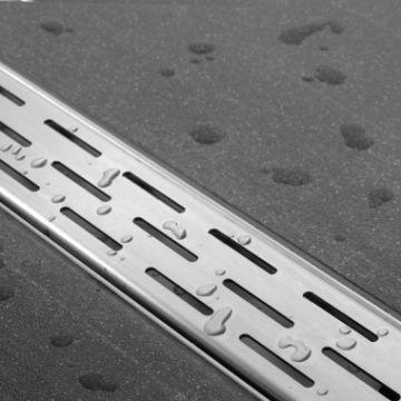 Easy Drain Compact 30 douchegoot 6x90 cm zijuitlaat met standaard rooster, rvs