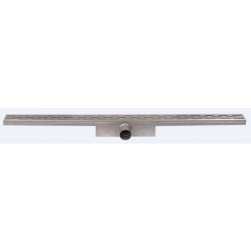 Easy Drain Compact 50 douchegoot 6x80 cm zijuitlaat met standaard rooster, rvs