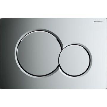 Geberit Sigma01 bedieningspaneel 2-knops frontbediening 16,4 x 24,6 cm, glans chroom