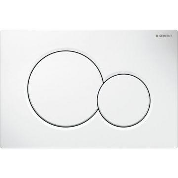 Geberit Sigma01 bedieningspaneel 2-knops frontbediening 16,4 x 24,6 cm, alpien wit