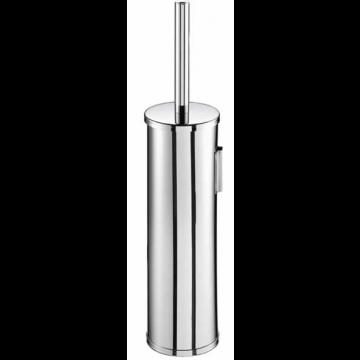 Geesa Nemox toiletborstelgarnituur wandmodel met zwarte borstel, chroom