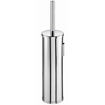 Geesa Nemox closetborstelgarnituur wandmodel met witte borstel 372x82x88mm, chroom