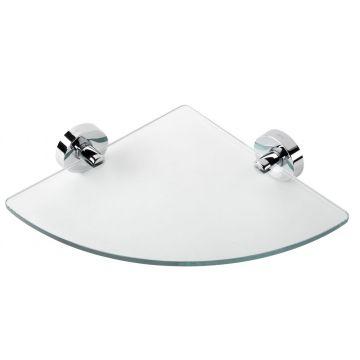 Geesa Luna hoekplanchet, glas/chroom