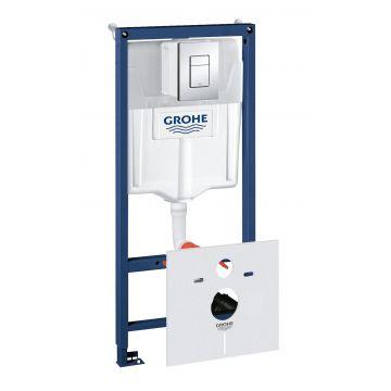 GROHE Rapid SL element voor hangend toilet met chromen bedieningspaneel 113 cm