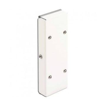 Linido hoogteverstelplaat voor opklapbare toiletbeugel, rvs gecoat wit