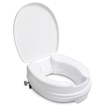 Linido toiletverhoger met deksel verhoging 10 cm, wit