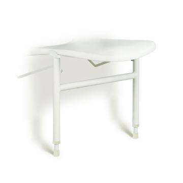 Linido hulppootset voor ergonomische douchezitting met zithoogte 42-57 cm, staal gecoat wit