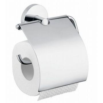Hansgrohe Logis toiletrolhouder met klep, chroom