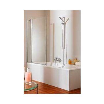 Hüppe 501 Design 2-dlg.badklapwand 95x150 cm, l+r toepasbaar, matzilver-helder glas