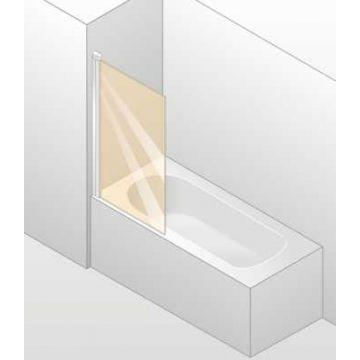 Hüppe Design elegance 1-delige badklapwand 75x150 cm, matzilver-helder glas