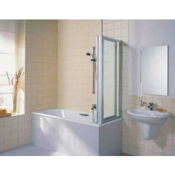 Kermi Vario badzijwand 70 cm, kunstst. glas, wit RAL 9016