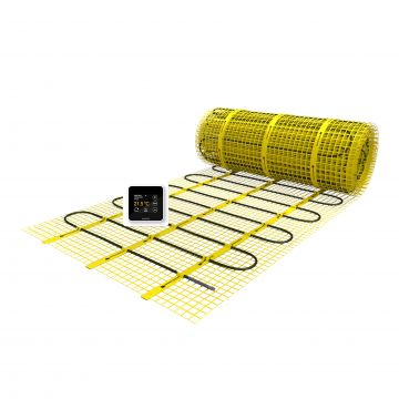 Magnum Mat vloerverwarmingsmat set met X-treme Control klokthermostaat large 40 x 0,5 m 20 m², 2500w