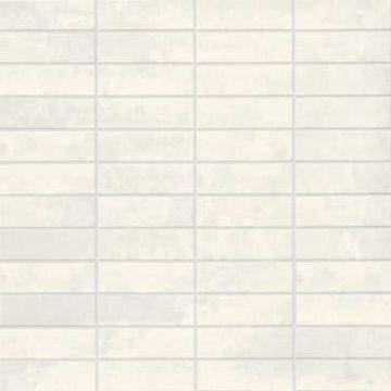 Mosa XXS keramische tegelmat 30x30 cm, 7,3x2,3 cm, koel wit