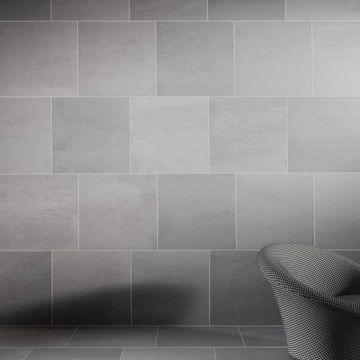 Mosa Terra Tones keramische vloerstrook 10x60 cm, antraciet