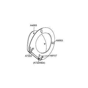Pressalit kunststof buffer voor toiletzitting ovaal, grijs