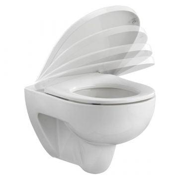 Pressalit 300+ toiletzitting met deksel en softclose, wit