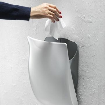 Pressalit afvalemmer wandmontage met Softclose, wit
