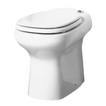SANIBROYEUR SANICOMPACT® Elite staand toilet met toiletzitting, wit