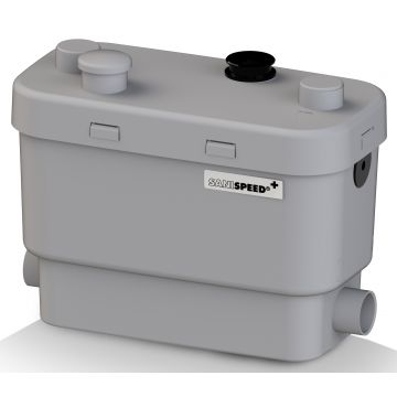 SANIBROYEUR SANISPEED® + vuilwaterpomp 400 W, wit