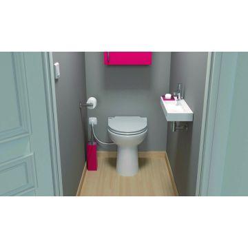 SANIBROYEUR SANICOMPACT® 43 ECO+ staand toilet met toiletzitting, wit