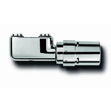 Vasco design ventielset haaks met thermostaatknop, chroom