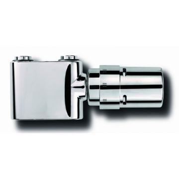 Vasco Design ventielset recht met thermostaatknop, chroom