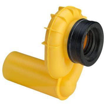 Viega urinoirsifon horizontaal kunststof, geel