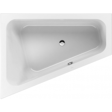 Villeroy & Boch Loop & Friends bad 175x135 cm, links met ovale binnenvorm, wit