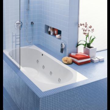 Villeroy & Boch Libra bad 180x80 cm Quaryl inclusief potenset, wit